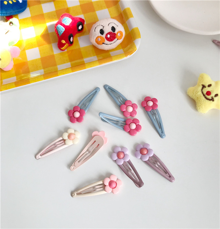 Japanese and Korean girl heart Liu seaside clip card bb clip child fun cute cream little flower hairpin.