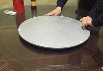 New diameter 480mm explosion models mahogany dining table marble round table silent turntable silver aluminum alloy base