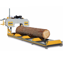 Heavy-duty round wood long stroke can be moved horizontal woodworking belt saw machine open material saw
