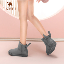 Camel outdoor snow boots winter sweet cute college wind female snow boots Japanese students rabbit ear boots tide models
