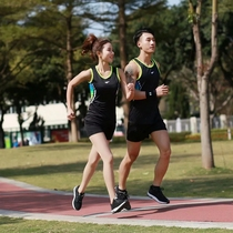 New summer track suits mens and womens training sprint track vest shorts marathon running track team uniform