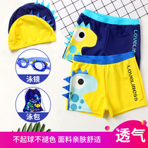Childrens swimming trunks boys flat swimsuit swimsuit with cap baby swimsuit boys split swimsuit large children swimsuit