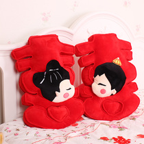 Wedding bed doll a pair of Chinese wedding doll couple doll large creative gift practical plush toys