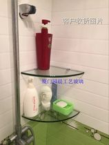 Kitchen tempered glass partitions bathroom racks bathroom niches shelves can be customized