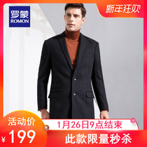 (Seconds Kill) Romon Monk Woolen Coat man medium long coat single fork suit collar wool coat