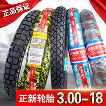 Positive new Tire 3.00-188 Floor 8-storey rear tire motorcycle tire Off-road tire 300-18 Xiamen Inner tube