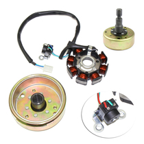 Yamaha pedal motorcycle magnetic motor stator coil Qiao gefoo hi Ghost fire 100 magnetic steel flywheel coil