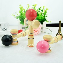 Wooden Tips Ball Sword Jade Sword ball Childrens parent-child game indoor outdoor adult fun casual Balance Toys