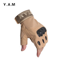 WZJP Thieves-free security half finger gloves outdoor sports gloves protective gloves riding gloves special forces fans CS.