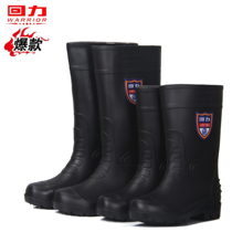 Spring and Autumn back in the tube high tube rain boots mens fashion mens shoes rain boots non-slip waterproof rubber shoes overshoe shoes rubber shoes
