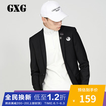 GXG Mens One-Piece Buckle Slim Suit Casual Fashion Fashion Fashion Suit Mens 173101081