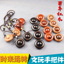 Time to run wooden mahogany handle pieces of wood saucer pear transfer beads purple sandalwood transfer ball blood Tan
