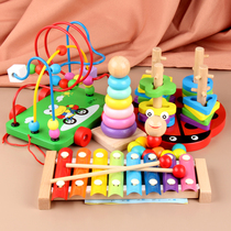 Infant children string beads around the beads 6-12 months baby boys and girls 1-3 years old early to teach intellectual multi-functional toys.