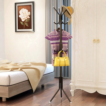 Simple modern coat rack hook landing Vertical vertical iron metal assembly home room hanging clothes rack