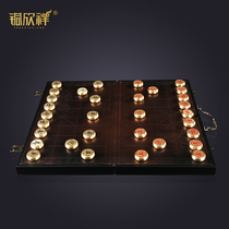 Copper Xinxiang hardcover full copper crafts Chinese chess Home Office leisure gift gift gift set
