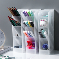 Creative fashion oblique pen holder multi-function desktop storage box office pen holder small fresh ins ornaments a type