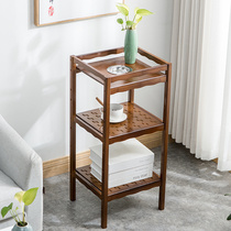 Nan bamboo tea rack small few tea racks simple floor living room tea shelf with ashtray bamboo tea table