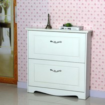 New ultra-thin hallway living room entrance dump shoe cabinet simple modern paint color white simple shoe continental