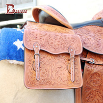 Equestrian Western Riding Saddle Bag wild riding bag carved Saddle series Knight equipment eight feet harness accessories