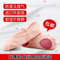 Adult dance shoes baby girl soft soled training shoes male Chinese body Cat Claw dance red girls ballet shoes