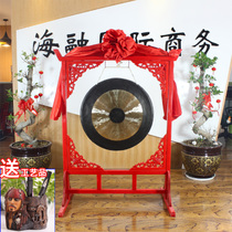 Qin Xiang tongluo gong 4050607080cm big gong celebration gong with flower window gong frame musical instrument