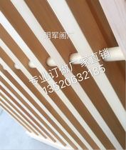 Ming Junge factory made new Chinese style doors and windows lattice solid wood screen partition wall sliding door simple grid