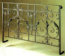 European-style wrought iron stairs handrails bay window guardrail fence attic fence corridor railing balcony fence