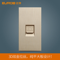 European switch socket switch panel socket panel S7 dazzle gold wire drawing 118 pieces telephone socket