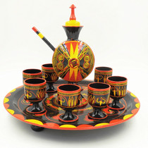 Sichuan Liangshan minority handicrafts Zhaojue Yi lacquer ware medium-sized wine tableware