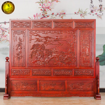 Dongyang wood carving solid wood floor screen Chinese living room bedroom office teahouse Xuan Guan Partition screen seat screen