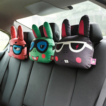 Kalinunu car headrest neck pillow car with a pillow cartoon cute creative car pillow car supplies