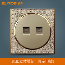 Eurobond switch socket panel A5 Champagne Gold telephone network socket telephone computer socket