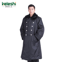 Security Cold clothing Waterproof velvet black cotton suit military coat cotton coat men and women winter thickening long labor protection cotton jacket