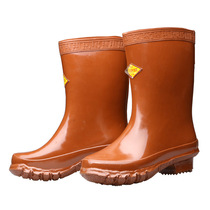 Double an Brand 25kv insulated boots high-pressure rubber electrician rain boots wear-resistant non-slip boots labor insurance shoes