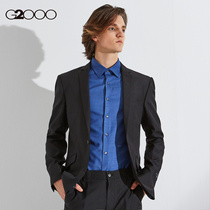 G2000 mens easy to take care of Small West decoration body new business handsome black suit jacket