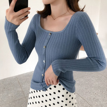 Fat mm Korean plate long-sleeved bottom shirt autumn winter new big code sexy sweater fat Sister slimming Skinny Top