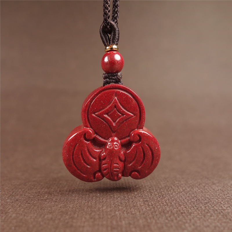 One yuan auction natural Zhu sand purple gold sand blessing in front of the pendant evil trick good luck men and women Zhu sand transfer pendant.