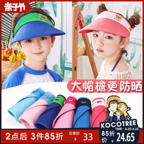 Childrens hat boys Summer Girls sun hat baby sun hat sun hat empty top UV thin section tide