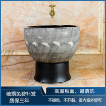 Ceramic floor Basin retro wash mop pool balcony bathroom mop basin one mop pool large mop pool home