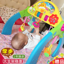 Childrens fitness rack baby toys 0-1 years old Puzzle Music girl boy baby walker newborn foot piano