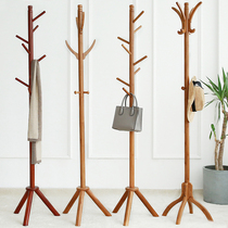 Hangers floor bedroom solid wood coat rack home simple single-pole clothes rack vertical hanging rack