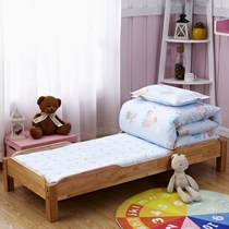 Kindergarten quilt three-piece six-piece core can be cotton baby nap bedding cotton baby bedding disassembly