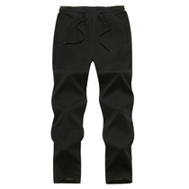 Spring and autumn winter outdoor fleece pants men warm thickening plus cashmere sports large size loose casual trousers