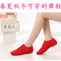 Low to help adult children canvas Jazz boots soft bottom dance shoes new practice shoes female modern dance shoes ballet shoes