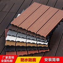 Personality healthy anti-rust indoor outdoor convenient decoration plastic wood floor leisure rainproof terrace strong assembly acid
