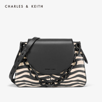 CHARLES & KEITH2019 autumn new CK2-20780912 metal chain ladies flip shoulder bag