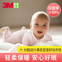 3M new snow baby sleeping bag thick cotton baby anti-kick quilt autumn and winter leg warm sleeping bag thick quilt