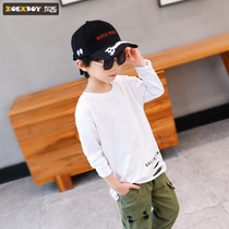 Left West Boy t-shirt long-sleeved spring and autumn 2019 New childrens bottoming shirt cotton large childrens autumn Korean version