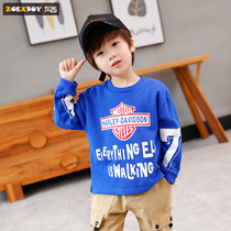 Left West boy sweater autumn 2019 New childrens long-sleeved t-shirt in the big boy personality spring and autumn Korean version of the tide
