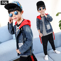 Zuo Mengdan Childrens wear Boy cowboy jacket spring 2019 New child jacket in the big Boy Boys Spring Korean edition Tide